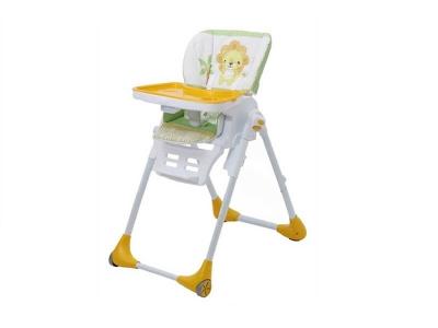 Стульчик для кормления Polini kids Classic Джунгли, жёлтый