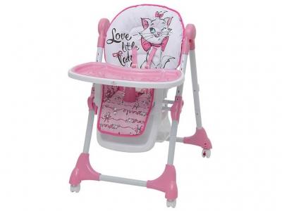 Стульчик для кормления Polini kids Disney baby 470 Кошка Мари, розовый