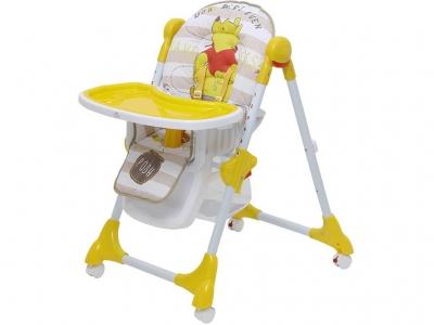 Стульчик для кормления Polini kids Disney baby 470 Медвежонок Винни Чудесный день, жёлтый