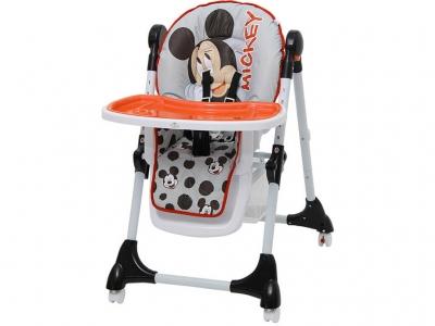 Стульчик для кормления Polini kids Disney baby 470 Микки Маус, серый