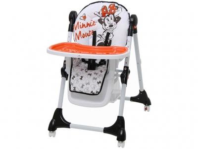 Стульчик для кормления Polini kids Disney baby 470 Минни Маус, белый
