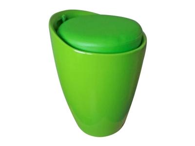 Табурет с местом для хранения Лого LM-1100 зеленый