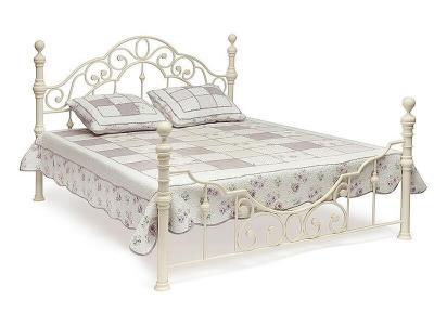 Кровать металлическая Victoria 140х200 Античный Белый
