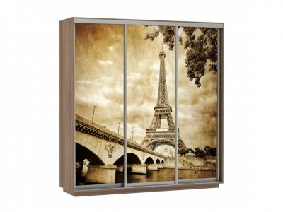 Шкаф-купе Трио Фото Париж Ясень шимо темный