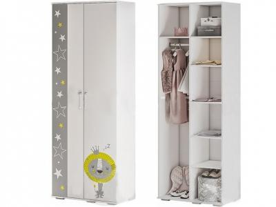 Шкаф для одежды ШК-09 Трио белый/звездное детство