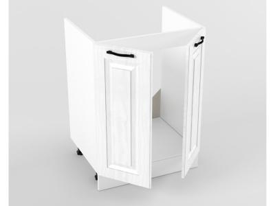 Нижний шкаф Н 600 мойка 2 двери 822х600х473 Белый Вегас