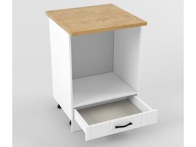 Нижний шкаф Н 600 плита 850х600х600 Белый Вегас