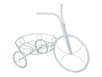 Подставка для цветов Велосипед Белое серебро