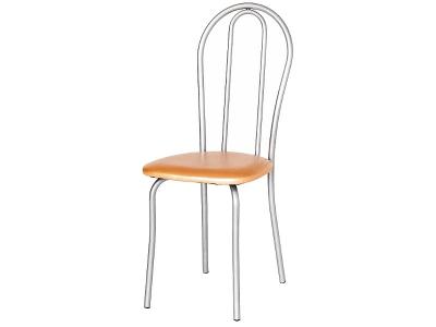 Кухонный стул Венский 2 серебристый металлик-оранж