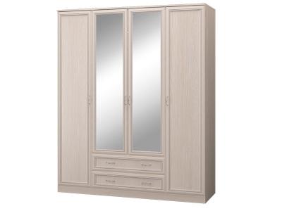 Шкаф 4-х дверный с зеркалом и ящиками Верона