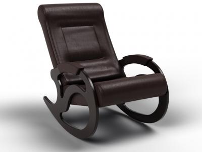 Кресло-качалка Вилла экокожа венге