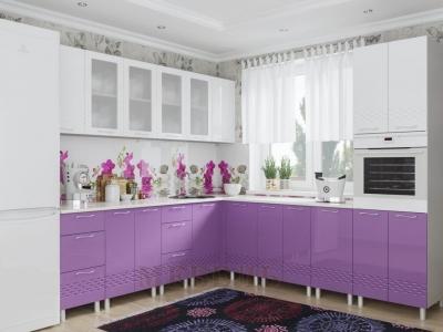 Кухня Волна Фиолетовый Металлик