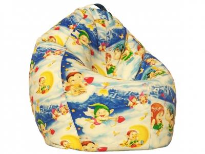 Кресло-мешок XL поплин Ангелочки